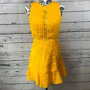 Anthropologie The Jetset Diaries Yellow Lace Dress